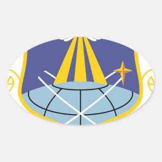 Ala del espacio de SSI de la fuerza aérea 460a Pegatina Ovalada