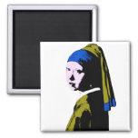 Ala del pendiente de la perla de Vermeer Iman Para Frigorífico