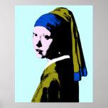 Ala del pendiente de la perla de Vermeer Poster
