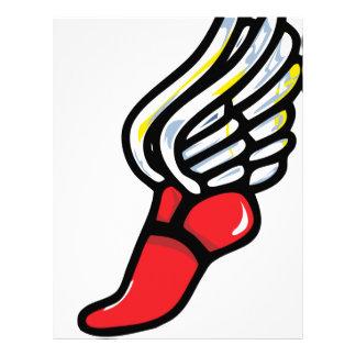 ala del zapato del atleta de Pegaso Membrete