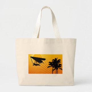 ala delta de la escena del sol bolsas lienzo