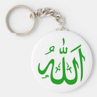 Alá en árabe llavero redondo tipo pin