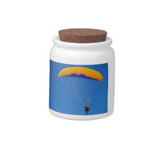 Ala flexible accionada jarra para caramelo