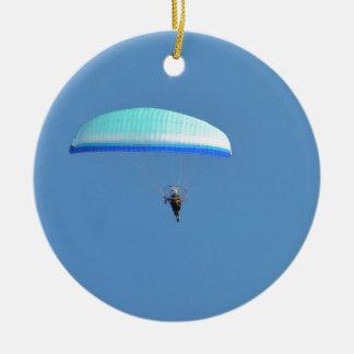 Ala flexible motorizada adorno navideño redondo de cerámica