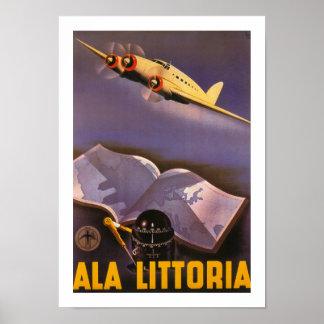 Ala Littoria Print