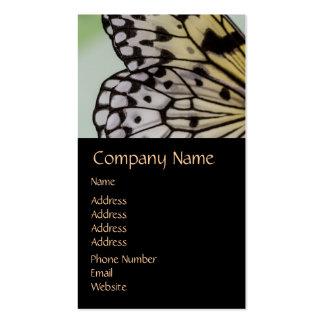 Ala macra de la mariposa de la ninfa tarjetas de visita