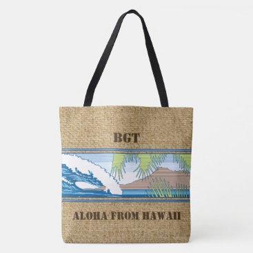Beach Themed Ala Moana Diamond Head Hawaiian Monogram Beach Bag