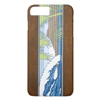 Ala Moana Hawaiian Faux Koa Wood Surf Sign iPhone 7 Plus Case
