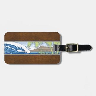 Ala Moana Hawaiian Surf Sign Luggage Tags