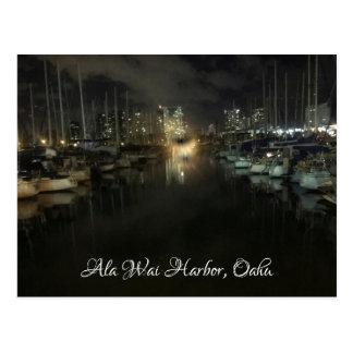 Ala Wai Harbor Postcard by Jacqueline Kruse