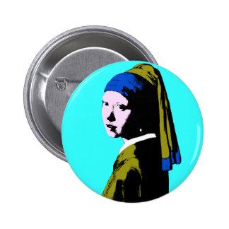 Ala Warhol del pendiente de la perla de Vermeer Pin