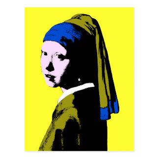 Ala Warhol del pendiente de la perla de Vermeer Postal