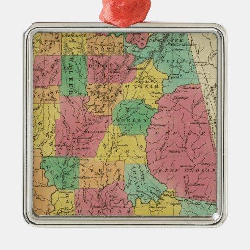 Alabama 3 christmas tree ornament