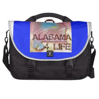 "Alabama ""4 Life"" Digital State Map Painting Laptop Bag"