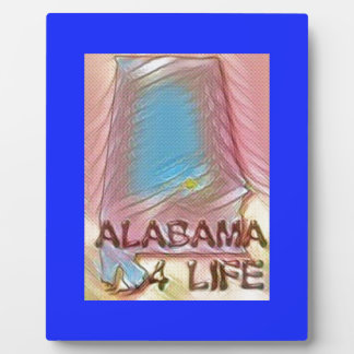 "Alabama ""4 Life"" Digital State Map Painting Plaque"