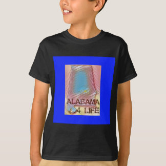 "Alabama ""4 Life"" Digital State Map Painting T-Shirt"