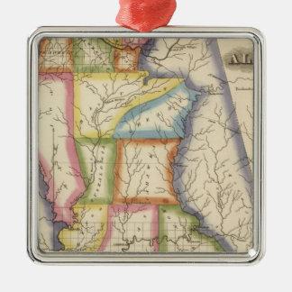 Alabama 6 metal ornament