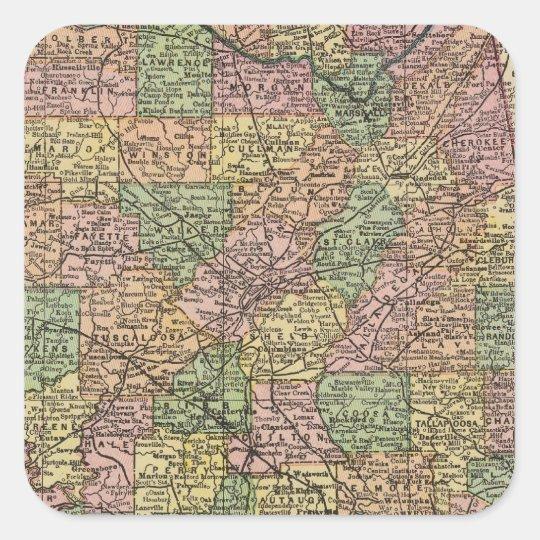 Alabama 7 square sticker