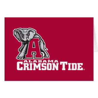 Alabama A Crimson Tide Big Al Card