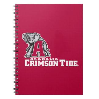 Alabama A Crimson Tide Big Al Spiral Notebook
