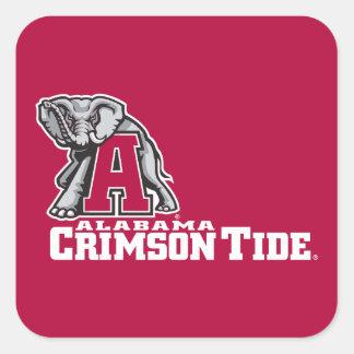 Alabama A Crimson Tide Big Al Square Sticker
