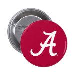 Alabama A Mark - White 2 Inch Round Button