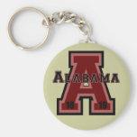Alabama 'A' Red Key Chain