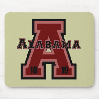 Alabama 'A' Red Mouse Pad