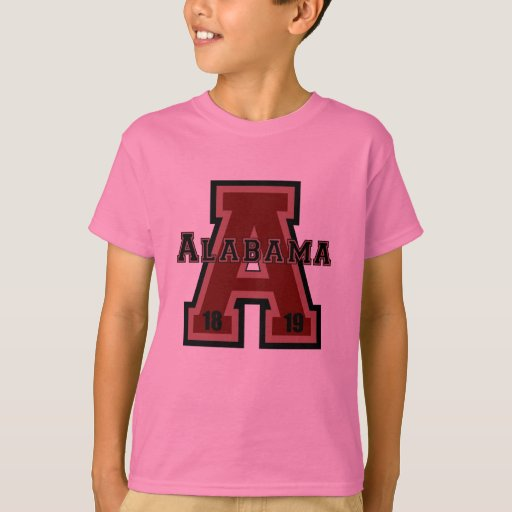 Alabama 39 a 39 red t shirt zazzle for T shirt printing mobile al