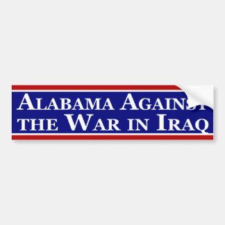 Alabama Against the War in Iraq Car Bumper Sticker