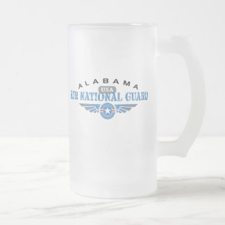 Alabama Air National Guard Frosted Glass Beer Mug