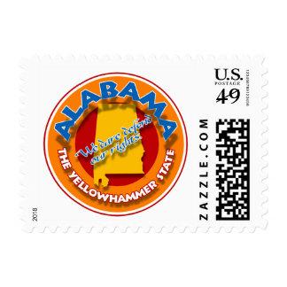 Alabama AL circle stamps