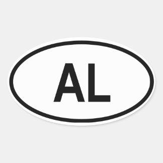 "Alabama ""AL "" Pegatina Ovalada"