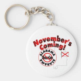 Alabama Anti ObamaCare – November's Coming! Basic Round Button Keychain