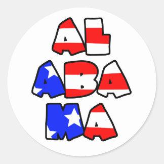 Alabama apiló - al pegatina
