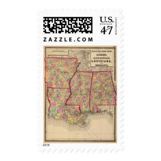Alabama, Arkansas, Louisiana, and Mississippi 2 Postage
