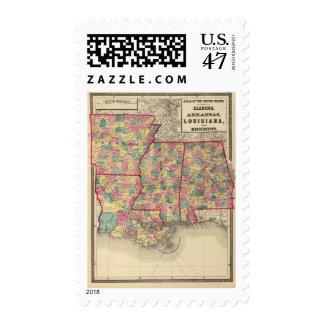 Alabama, Arkansas, Louisiana, and Mississippi Postage