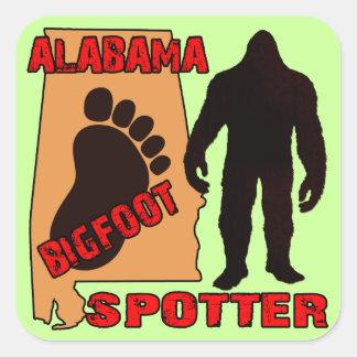 Alabama Bigfoot Spotter Square Sticker