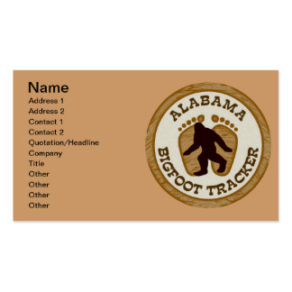 Alabama Bigfoot Tracker Double-Sided Standard Business Cards (Pack Of 100)