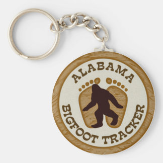 Alabama Bigfoot Tracker Keychain