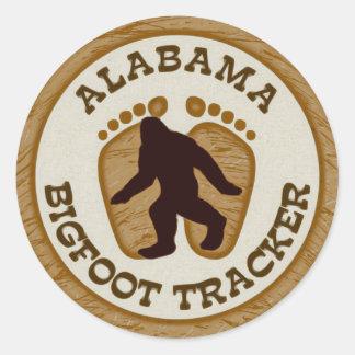 Alabama Bigfoot Tracker Round Sticker