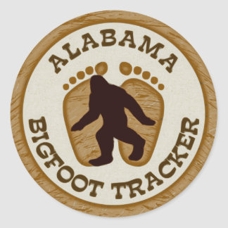 Alabama Bigfoot Tracker Classic Round Sticker