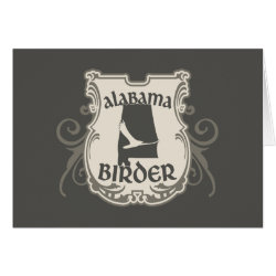 Greeting Card with Alabama Birder design