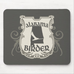 Mousepad with Alabama Birder design