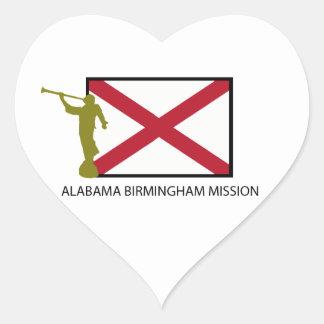 ALABAMA BIRMINGHAM MISSION LDS CTR HEART STICKER