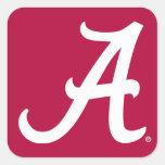 Alabama blanca A Pegatina Cuadrada