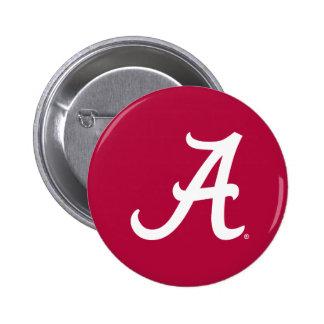 Alabama blanca A Pin Redondo De 2 Pulgadas