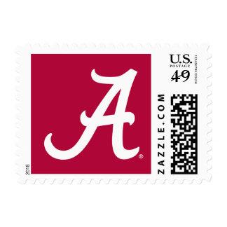 Alabama blanca A Sello Postal