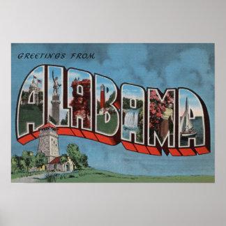 Alabama (Blue)Large Letter ScenesAlabama Poster