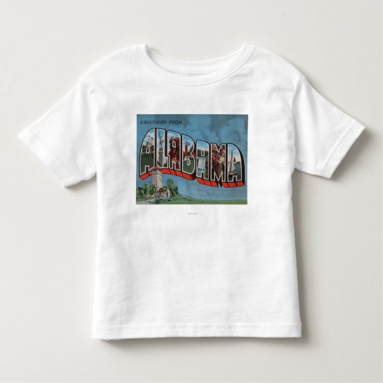 Alabama (Blue)Large Letter ScenesAlabama Toddler T-shirt